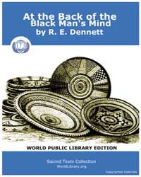 At the Back of the Black Man's Mind by Dennett, R. E.