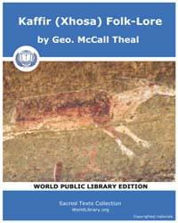 Kaffir Xhosa Folk-lore, Score Afr Xft by Geo. Theal, McCall