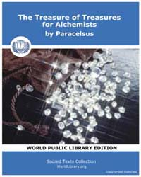 The Treasure of Treasures for Alchemists... by Paracelsus