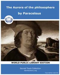 The Aurora of the Philosophers, Score Al... by Paracelsus