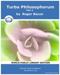 Turba Philosophorum, Part 2, Score Alc T... by Bacon, Roger