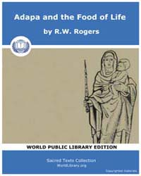 Adapa and the Food of Life by Rogers, R.W.