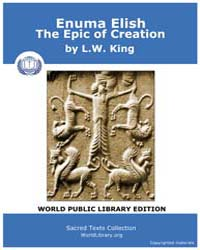 Enuma Elish the Epic of Creation by King, L.W.