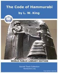 The Code of Hammurabi by King, L. W.