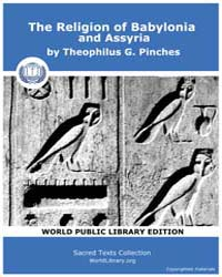 The Religion of Babylonia and Assyria by Pinches, Theophilus, G.