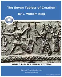 The Seven Tablets of Creation, Score Ane... by King, L. William