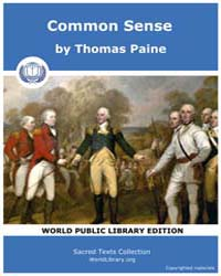 Sacred Text : Common Sense, Volume I by Paine, Thomas
