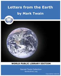 Letters from the Earth by Twain, Mark