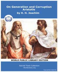 On Generation and Corruption Aristotle, ... by Joachim, H. H.
