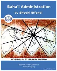 Baha'I Administration by Effendi, Shoghi