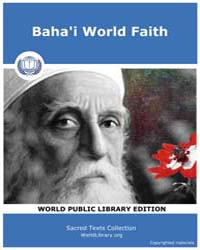 Baha'i World Faith by
