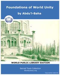 Foundations of World Unity by Abdu'l-Baha