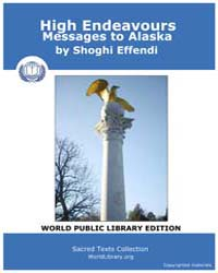 High Endeavours Messages to Alaska by Effendi, Shoghi