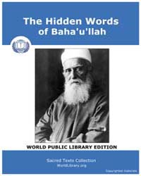 The Hidden Words of Baha'U'Llah by Classic Sacred Texts