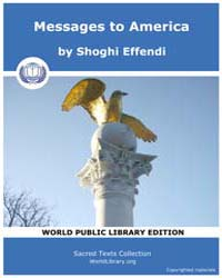 Messages to America by Effendi, Shoghi