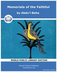 Sacred Text : Memorials of the Faithful by Abdu'L-baha