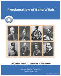 Sacred Text : Proclamation of Baha'U'Lla... by Sacred Text