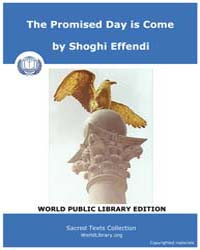 The Promised Day is Come by Effendi, Shoghi