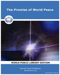 The Promise of World Peace by