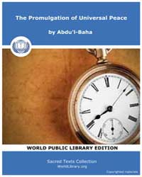 The Promulgation of Universal Peace by Abdu'l-Baha