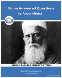 Some Answered Questions by Abdu'L-baha