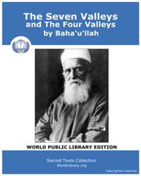 The Seven Valleys and the Four Valleys by Baha'U'Llah