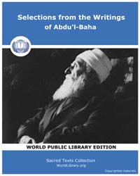 Selections from the Writings of Abdu'L-b... by Classic Sacred Texts