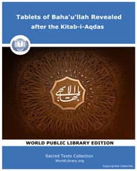Tablets of Baha'U'Llah Revealed After th... by Classic Sacred Texts