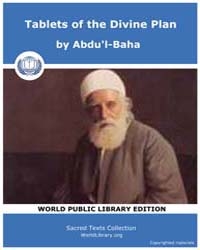Tablets of the Divine Plan by Abdu'l-Baha