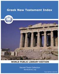 Greek New Testament Index, Score Bib Gnt by Sacred Texts