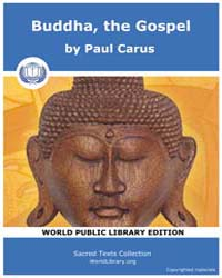 Buddha, the Gospel, Score Bud Btg by Carus, Paul