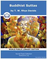 Buddhist Suttas, Score Bud Sbe11 Volume Vol. XI by Davids, T. W., Rhys