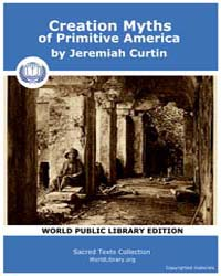 Creation Myths of Primitive America by Curtin, Jeremiah
