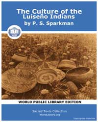 The Culture of the Luiseño Indians, Scor... Volume Vol. 8 by Sparkman, P. S.