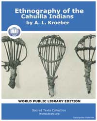 Ethnography of the Cahuilla Indians, Sco... by Kroeber, A. L.