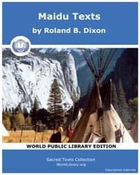 Maidu Texts, Score CA Mdut by Dixon, Roland B.