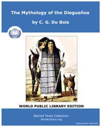 The Mythology of the Diegueños Volume XIV by Du Bois, C. G.