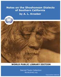 Notes on the Shoshonean Dialects of Sout... Volume Vol. 8 by Kroeber, A. L.