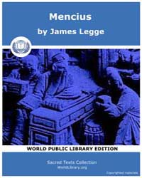 Mencius, Score Cfu Menc by Legge, James