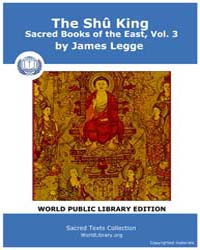 The Shû King, Sacred Books of the East, ... by James Legge
