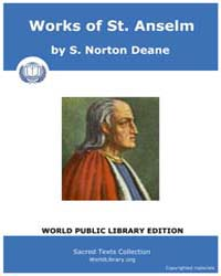 Works of St. Anselm, Score Chr Ans by S. Norton Deane