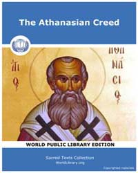 The Athanasian Creed by Classic Sacred Texts