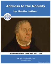 Address to the Nobility by Martin Luther