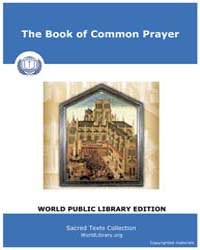 The Book of Common Prayer, Score Chr Bcp by Sacred Texts