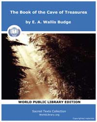 The Book of the Cave of Treasures by E. A. W allis Budge
