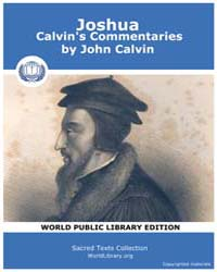 Joshua, Calvin's Commentaries by Calvin, John