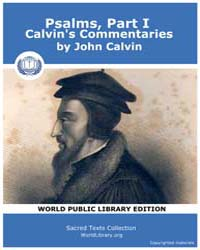 Psalms, Part I, Calvin's Commentaries, S... by Calvin, John