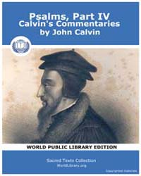 Psalms, Part IV, Calvin's Commentaries by Calvin, John
