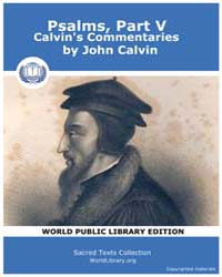 Psalms, Part V, Calvin's Commentaries by Calvin, John