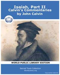 Isaiah, Part Ii, Calvin's Commentaries, ... by Calvin, John